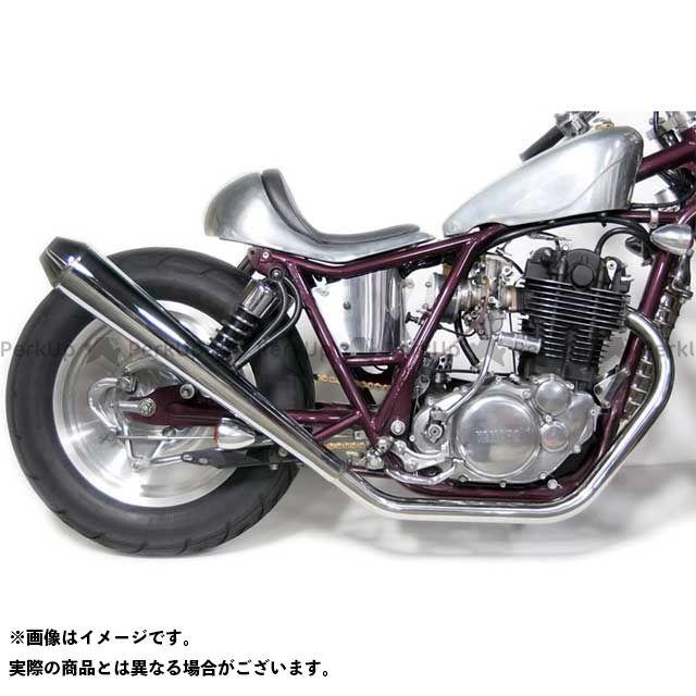 Motor Rock SR400 SR500 マフラー本体 SR400/500用 ロングメガホンマフラー フルエキゾースト アップ キャブ車 モーターロック
