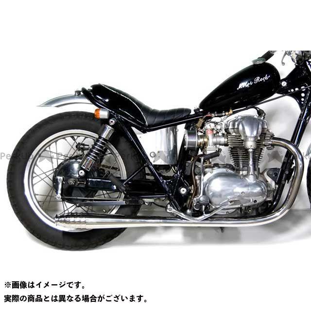 Motor Rock W400 W650 マフラー本体 W650/400用 69メガホン フルエキゾースト タイプ:LOW モーターロック