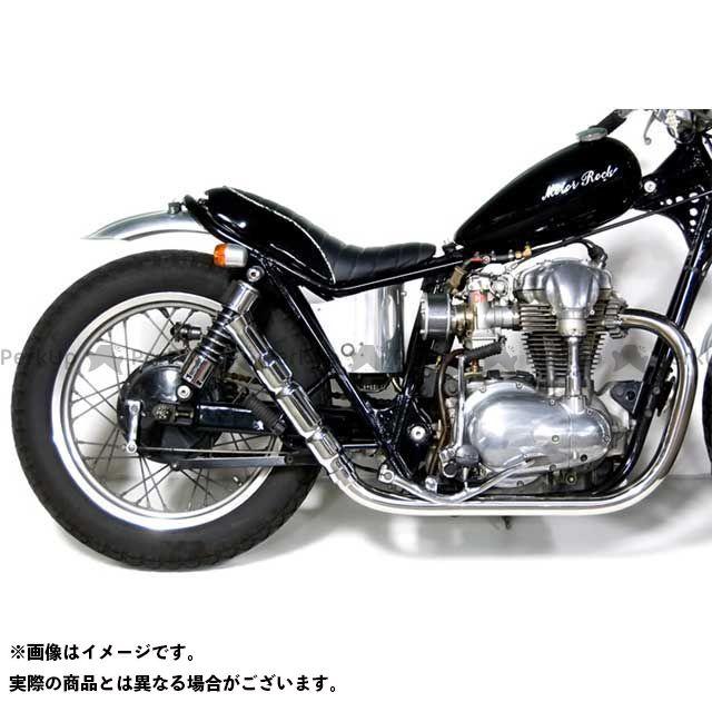 Motor Rock W400 W650 マフラー本体 W650/400用 バンブーマフラー/フレアエンド フルエキゾースト HIGH