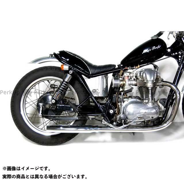 【エントリーで更にP5倍】Motor Rock W400 W650 マフラー本体 W650/400用 テーパードマフラー フルエキゾースト タイプ:LOW モーターロック