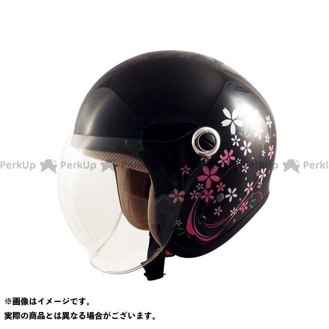 SPEEDPIT レディース・キッズヘルメット GS-6 シールド付きジェットヘルメット Gino さくらブラック スピードピット