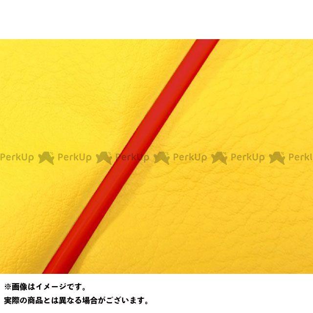 Grondement バリオス シート関連パーツ バリオス(ZR250A) 国産シートカバー イエロー タイプ:張替 仕様:赤パイピング グロンドマン