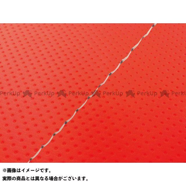 Grondement バリオス シート関連パーツ バリオス(ZR250A) 国産シートカバー フルエンボスレッド タイプ:張替 仕様:透明ステッチ グロンドマン