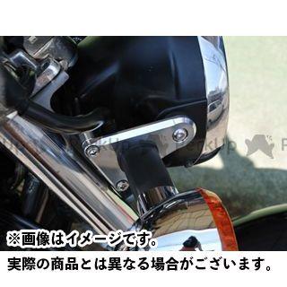 WOODSTOCK ゼファー750 電装ステー・カバー類 ヘッドライトステー(シルバー)