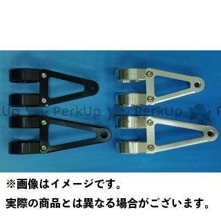 WOODSTOCK 汎用 電装ステー・カバー類 ヘッドライトステー Cタイプ φ41 ブラック ロング