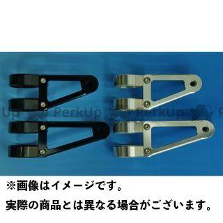 WOODSTOCK 汎用 電装ステー・カバー類 ヘッドライトステー Fタイプ φ36 シルバー ロング