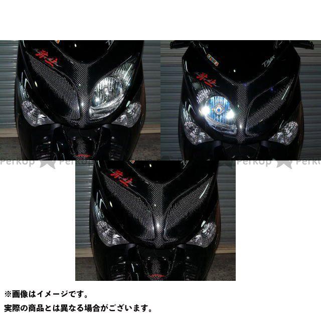 【エントリーで更にP5倍】ヤヨイ TMAX500 カウル・エアロ ライトマスク タイプ1/競技用 素材:シルバーカーボン 仕様:右 弥生