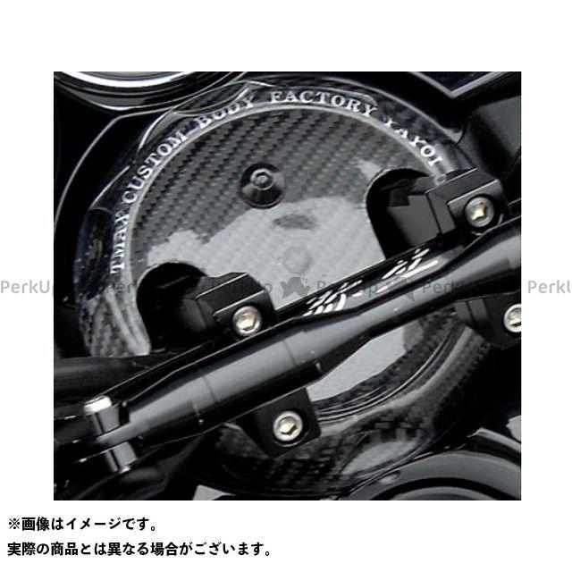 ヤヨイ TMAX500 ドレスアップ・カバー ハンドルポストカバー 素材:シルバーカーボン 弥生