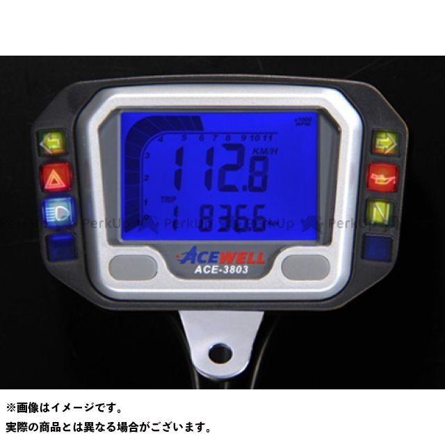 【エントリーでポイント10倍】送料無料 エースウェル ACE WELL スピードメーター ACE-3803 ACE WELL多機能デジタルメーター