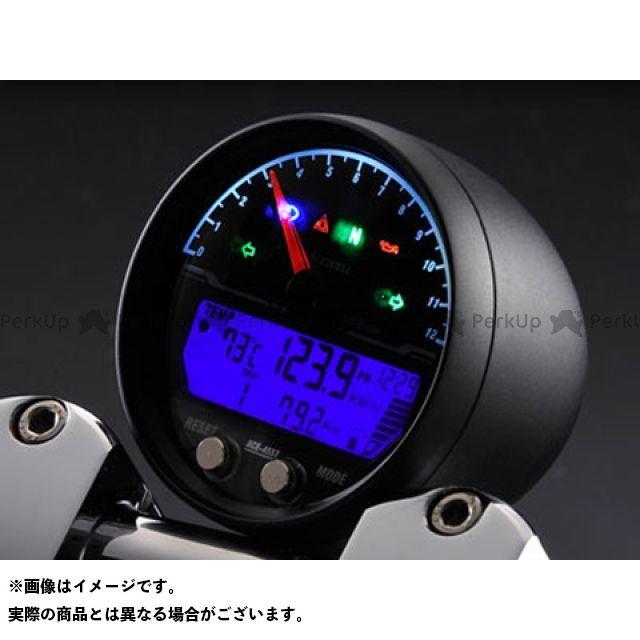 【エントリーでポイント10倍】送料無料 エースウェル ACE WELL スピードメーター ACE-4553 多機能デジタルメーター(回転数 12000rpm) メッキ