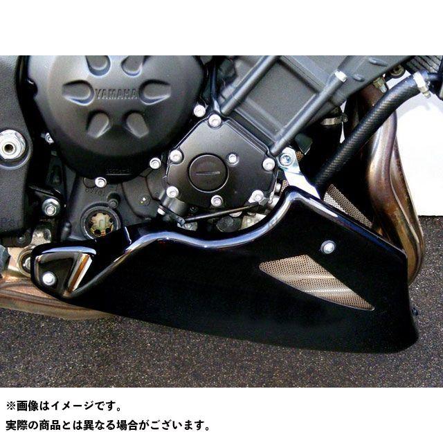 Powerbronze フェザー8 FZ8 カウル・エアロ アンダーカウル カラー:ブラック/シルバーメッシュ パワーブロンズ