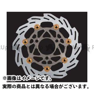 SHIFTUP シグナスX ディスク 260mm ウェーブフローティングディスクローター カラー:チタン/ゴールドピン シフトアップ