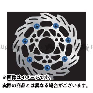 送料無料 SHIFTUP グロム ディスク 220mm ウェーブフローティングディスクローター シルバー/ブルーピン