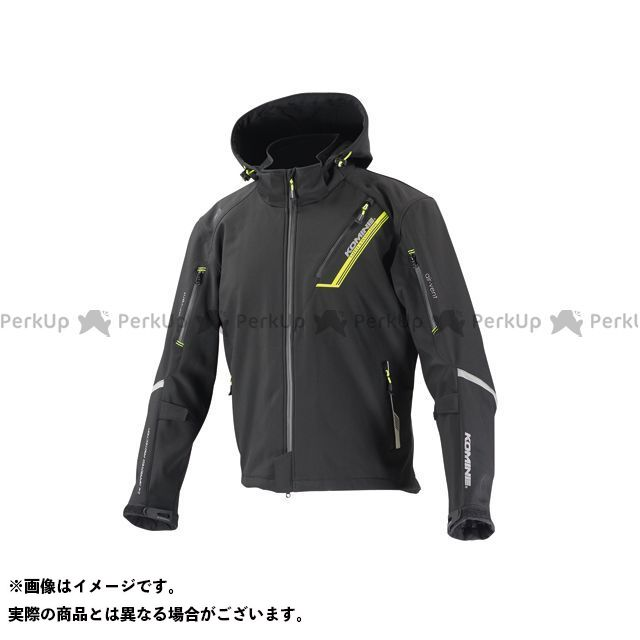 KOMINE ジャケット JK-579 プロテクトソフトシェルウィンターパーカ-イフ カラー:ブラック サイズ:M コミネ
