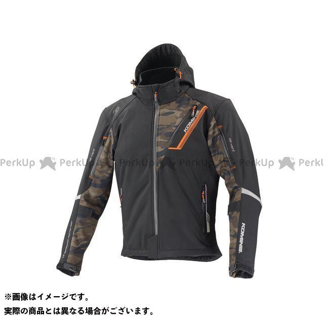 日本最大級の品揃え コミネ KOMINE ジャケット バイクウェア エントリーで最大P19倍 JK-579 プロテクトソフトシェルウィンターパーカ-イフ カラー:ブラック サイズ:WM カモ 現金特価