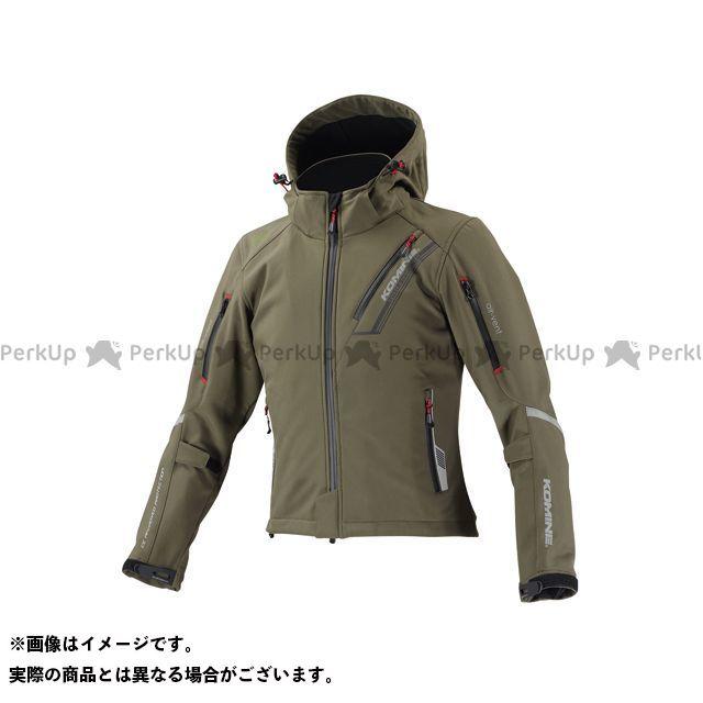 KOMINE ジャケット JK-579 プロテクトソフトシェルウィンターパーカ-イフ カラー:ディープオリーブ サイズ:L コミネ