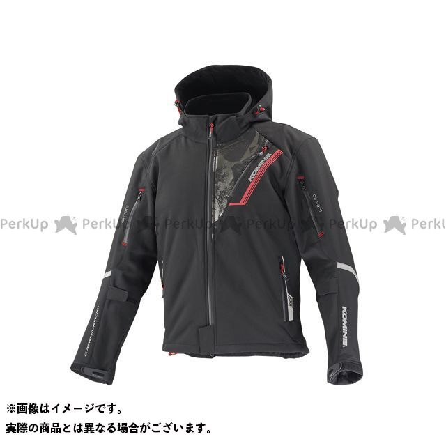 KOMINE ジャケット JK-579 プロテクトソフトシェルウィンターパーカ-イフ カラー:ブラック/フガク サイズ:4XL コミネ