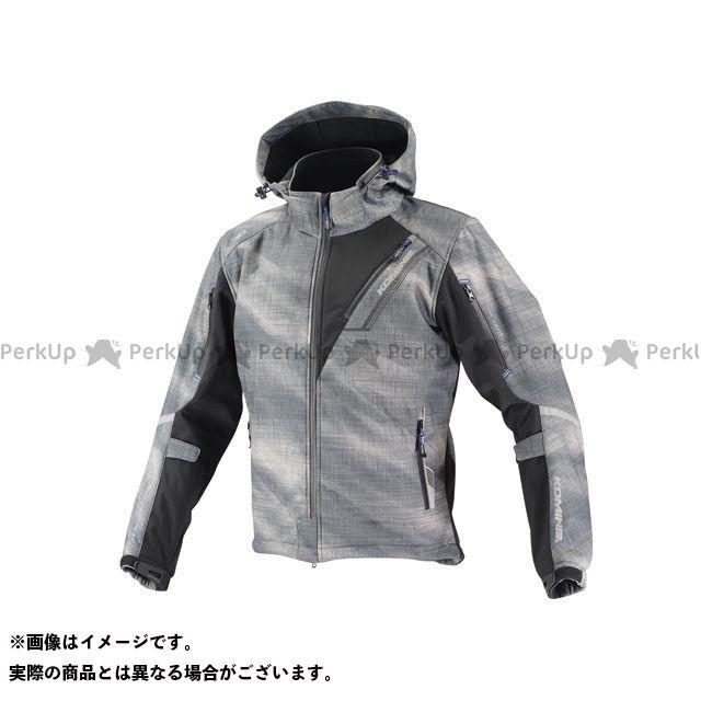 コミネ KOMINE ジャケット 超美品再入荷品質至上 バイクウェア エントリーで最大P19倍 JK-579 カラー:スモーク プロテクトソフトシェルウィンターパーカ-イフ サイズ:L 出群
