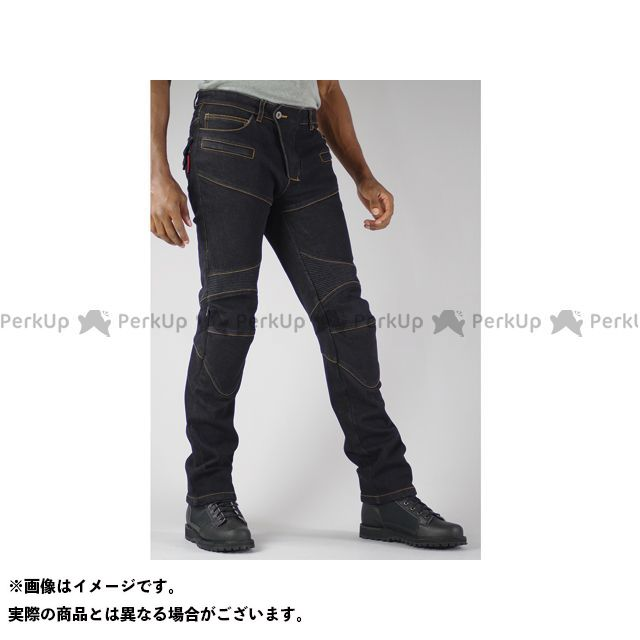 KOMINE パンツ WJ-921S スーパーフィットウォームデニムジーンズ カラー:ブラック サイズ:XL/34 コミネ