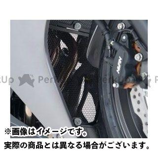 【エントリーで更にP5倍】アールアンドジー CBR400R ドレスアップ・カバー ダウンパイプグリル(ブラック) R&G