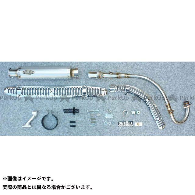 【特価品】OUTEX スーパーカブ110 マフラー本体 スーパーカブ110(JA10) アップマフラー タイプ:OUTEX.R-SS-UP-P アウテックス