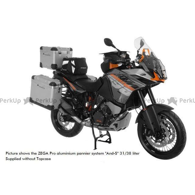 ツアラテック TOURATECH ツーリング用バッグ ZEGA-PRO アルミニウムパニアシステム 38+45L KTM 1190 Adventure/R(シルバーフレーム)