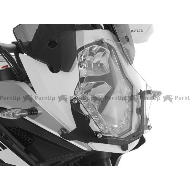 TOURATECH 1190アドベンチャー 電装ステー・カバー類 ヘッドライトプロテクター(クリア)クイックリリース版 KTM 1190 ADV 「ブラック」