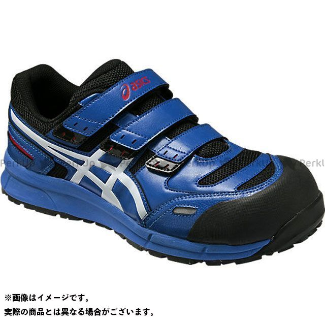アシックス メカニックシューズ 安全靴 ウィンジョブ CP102 ブルー/ホワイト 24.5cm ASICS