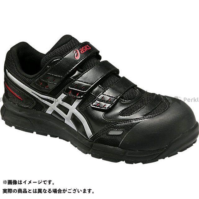 ASICS アシックス メカニックシューズ バイクシューズ・ブーツ アシックス メカニックシューズ 安全靴 ウィンジョブ CP102 ブラック/シルバー 23.5cm ASICS