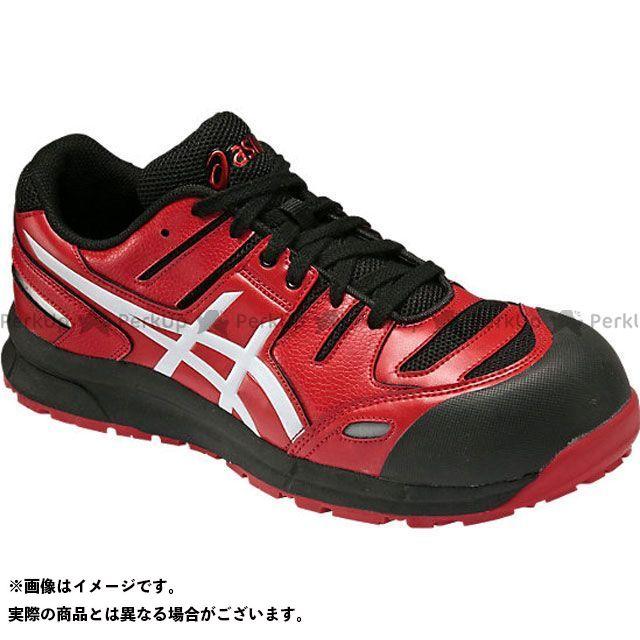 アシックス メカニックシューズ 安全靴 ウィンジョブ CP103 レッド/ホワイト 27.5cm ASICS