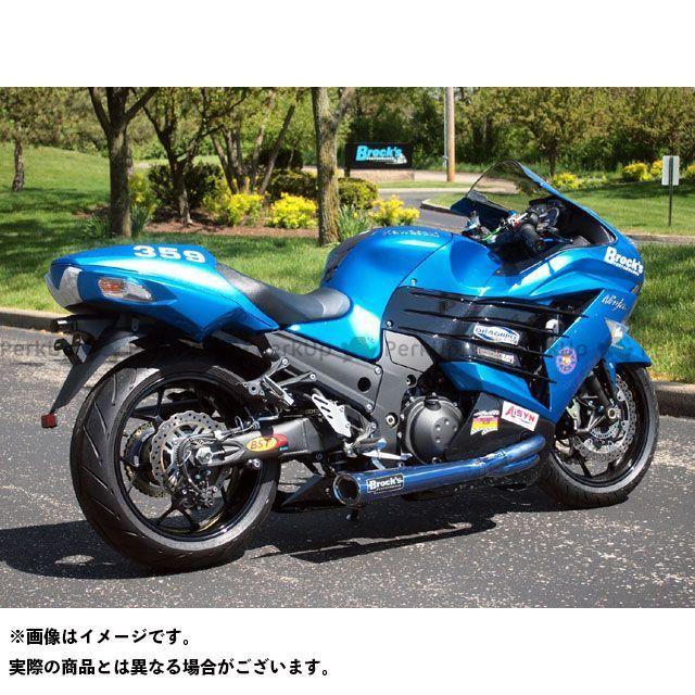 【エントリーで更にP5倍】Brocks ニンジャZX-14 マフラー本体 TIWINDER W/ BAFFLE BLUE ANODIZED 仕様:RACE ブロックス