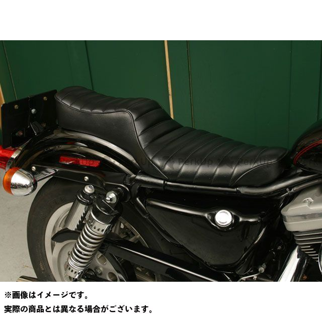 Tramp Cycle スポーツスターファミリー汎用 シート関連パーツ TSE-001P KING&QUEEN press type 年式:1997~2003年 トランプ