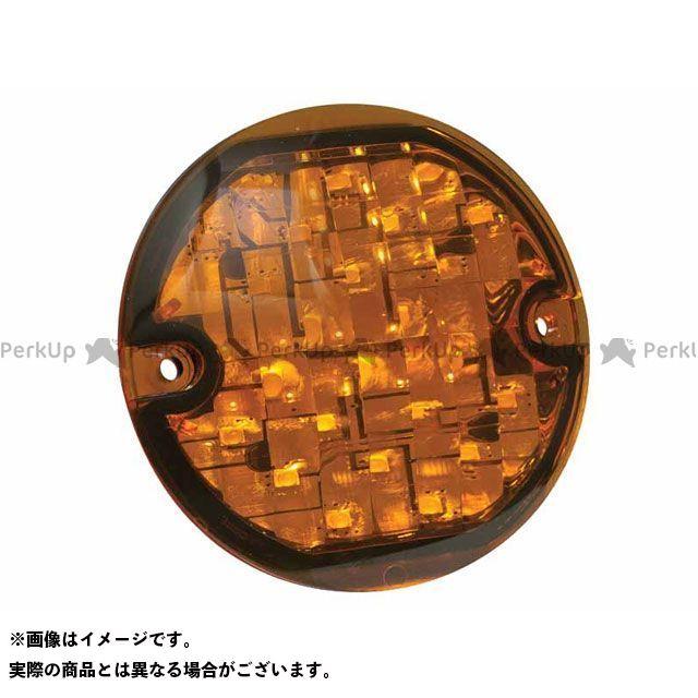送料無料 クリアキン kuryakyn ウインカー関連パーツ フロント LED ウインカー フラットスタイル(アンバー)