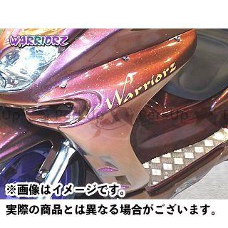WARRIORZ マジェスティC カウル・エアロ サイドカウルV1 カラー:純正色塗装済/ブルーメタリックC ウォーリアーズ