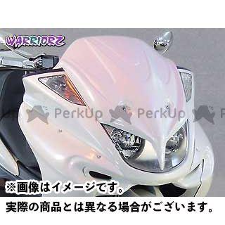 WARRIORZ マジェスティC カウル・エアロ エアロフェイスV3 カラー:純正色塗装済/ブラックメタリックX ウォーリアーズ
