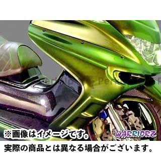 WARRIORZ マジェスティC カウル・エアロ サイドカウルV4 カラー:純正色塗装済/シルバー3 ウォーリアーズ