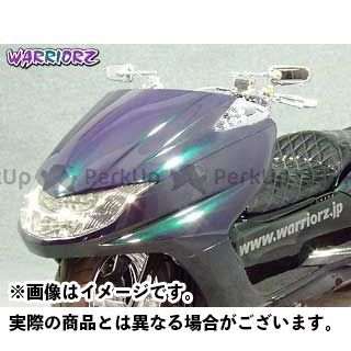 WARRIORZ マグザム カウル・エアロ エアロフェイスV2・LEDウインカー用 塗装なし/黒ゲル