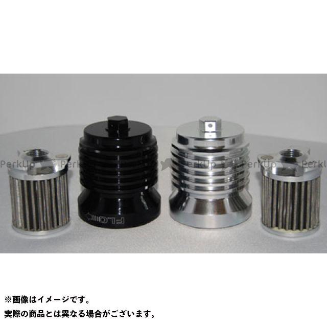 PC Racing エンジンオイルパーツ PCS4B FLOオイルフィルター(フィルター交換タイプ) ブラックアルマイト PCレーシング