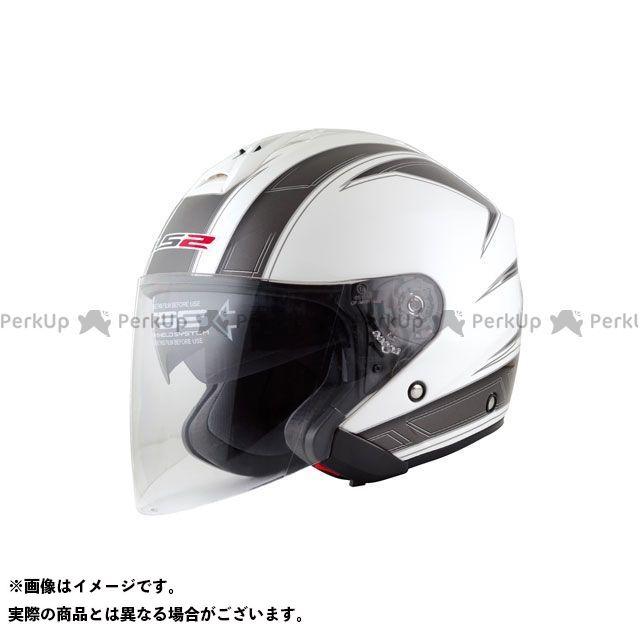 送料無料 LS2 HELMETS エルエスツー ジェットヘルメット 【売り尽くし】 LS2 FREEWAY(フリーウェイ) グラフィックモデル エスプリ ホワイト XL/61-62cm