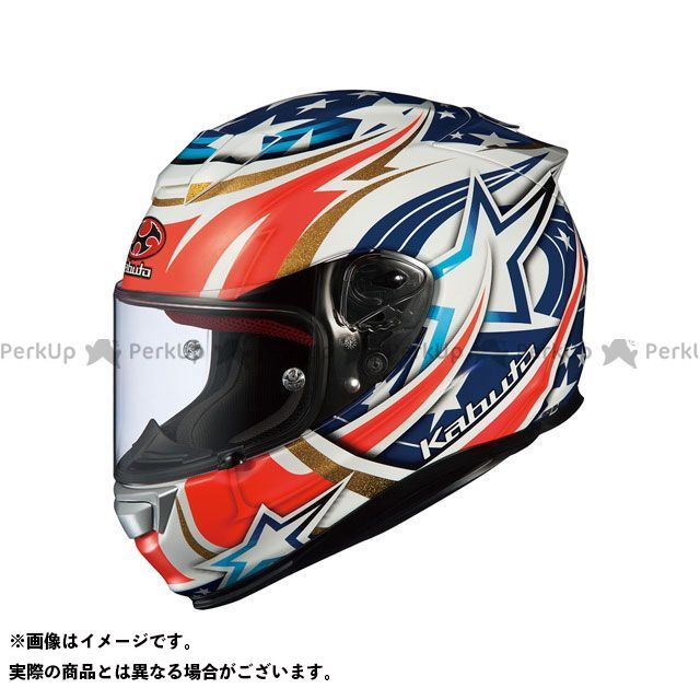 送料無料 OGK KABUTO オージーケーカブト フルフェイスヘルメット RT-33 ACTIVE STAR(アクティブスター) ホワイト M