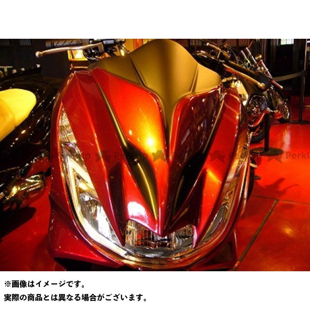 KOTANI MOTORS PCX125 PCX150 カウル・エアロ 新型PCX用デビルマスク サイバーS ver. カラー:キャンディー.N.レッド×MAD ブラック コタニ