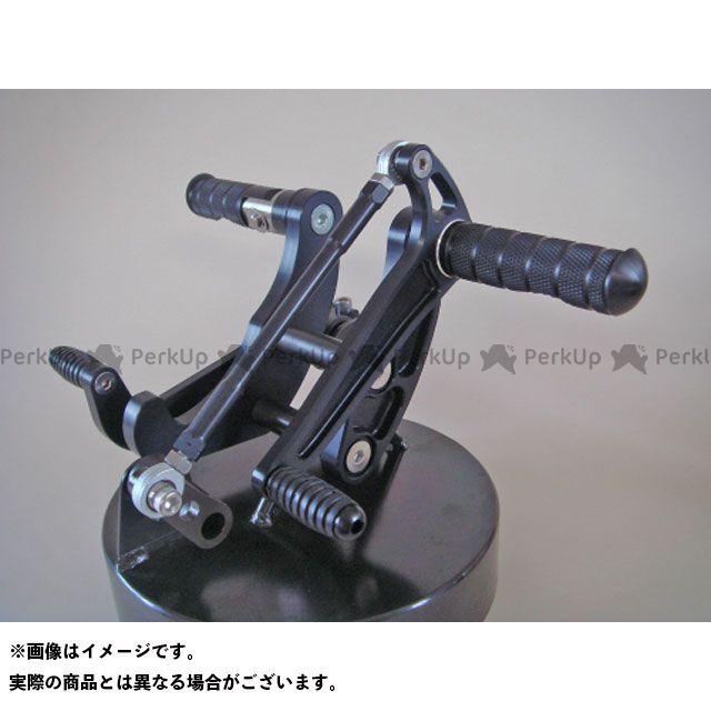【無料雑誌付き】CRAFTMAN SR400 SR500 バックステップ関連パーツ SR用 バックステップキット(ブラックアルマイト) 仕様:リアブレーキSTDドラム仕様 クラフトマン