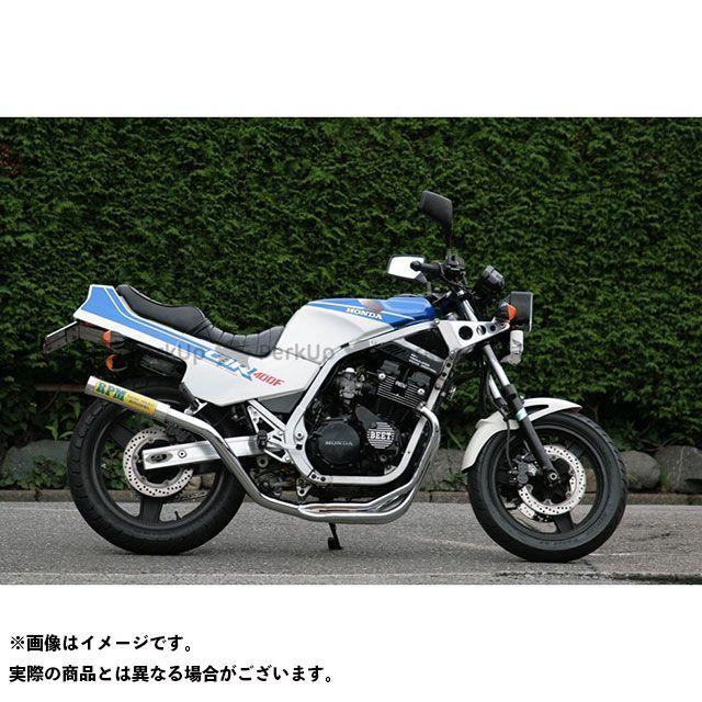 アールピーエム CBR400F マフラー本体 RPM-67Racing フルエキゾーストマフラー サイレンサーカバー:ステンレス RPM