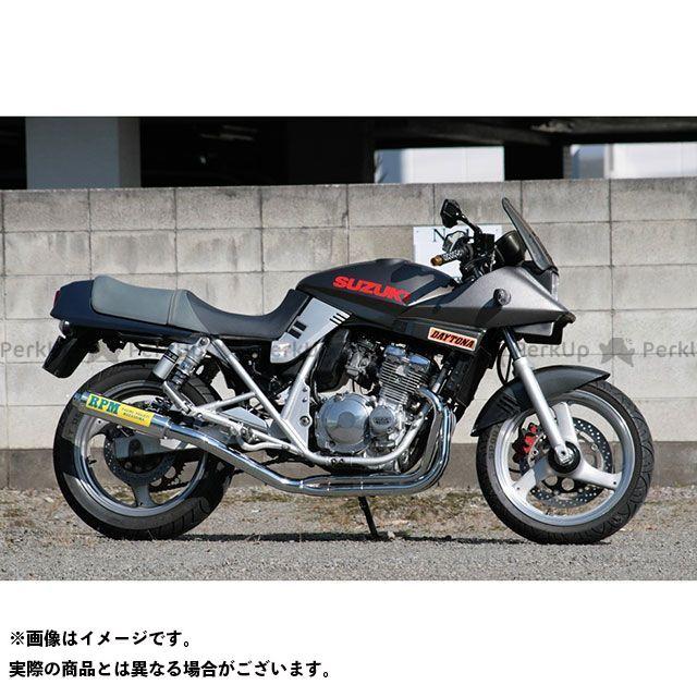 アールピーエム GSX400Sカタナ マフラー本体 RPM 4in2in1 フルエキゾーストマフラー サイレンサーカバー:アルミ RPM