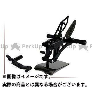 送料無料 nao YZF-R1 バックステップ関連パーツ 4ポジション アーチドステップ スペシャルパッケージ+マフラーヒートガード付き ブラック