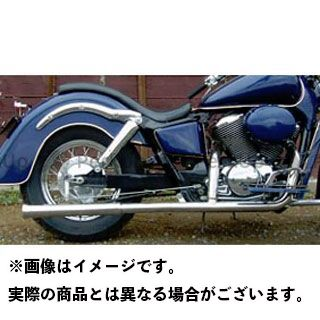 【エントリーで更にP5倍】American Dreams シャドウ400 シャドウ750 マフラー本体 2in1 ファイヤーチップマフラー 排気量:400cc アメリカンドリームス