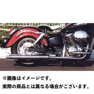 【エントリーで最大P23倍】American Dreams シャドウ400 シャドウ750 マフラー本体 2in1 ロングバズーカフィッシュマフラー 排気量:750cc アメリカンドリームス