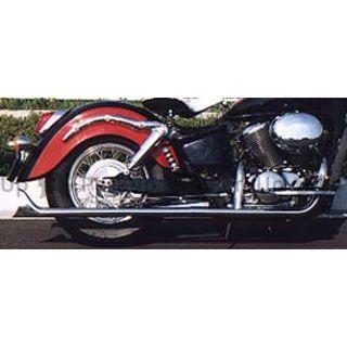 American Dreams シャドウスラッシャー シャドウスラッシャー750 マフラー本体 2in1 ストレートフィッシュマフラー サイレンサーのみ 低重音タイプ(バッフル脱着不可) 400cc アメリカンドリームス