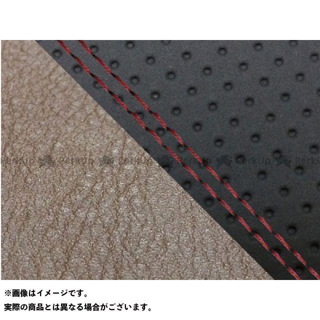 Grondement MT-09 シート関連パーツ MT-09/FZ-09 国産シートカバー エンボス黒&ダーク灰 タイプ:張替 仕様:赤ダブルステッチ グロンドマン