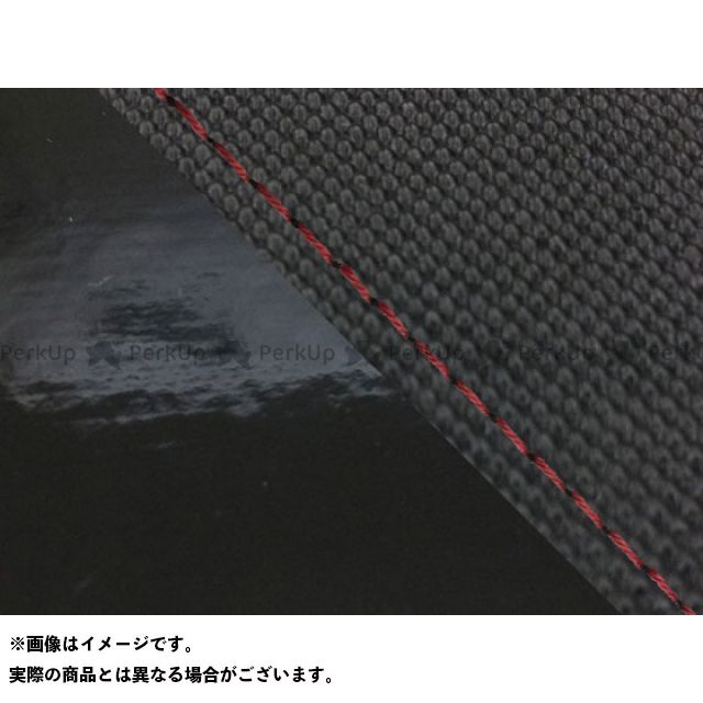 Grondement MT-09 シート関連パーツ MT-09/FZ-09 国産シートカバー スベラーヌ黒&エナメル黒 タイプ:張替 仕様:赤ステッチ グロンドマン